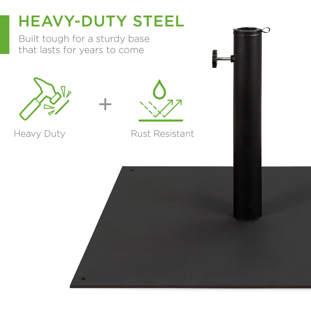 38.5lbs Patio Steel Umbrella Base Stand - Black