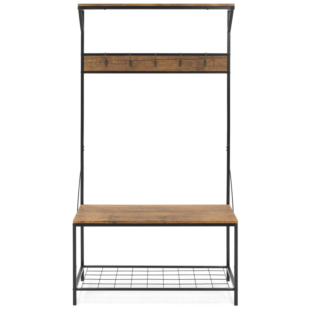 71x39in 3-Shelf Hall Accent Tree Storage Rack