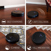 3-in-1 Smart Robot Vacuum, Mopper, and Sweeper - Black