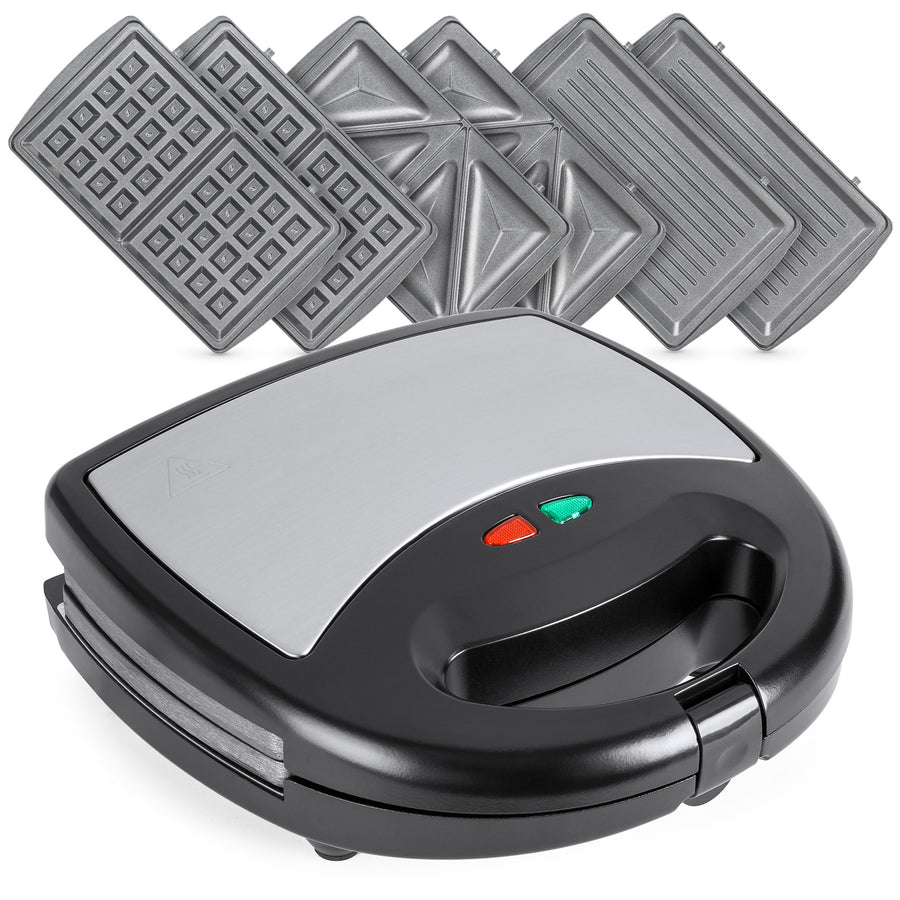 3-in-1 750W Auto Shut Down Dishwasher Safe Sandwich Maker Press