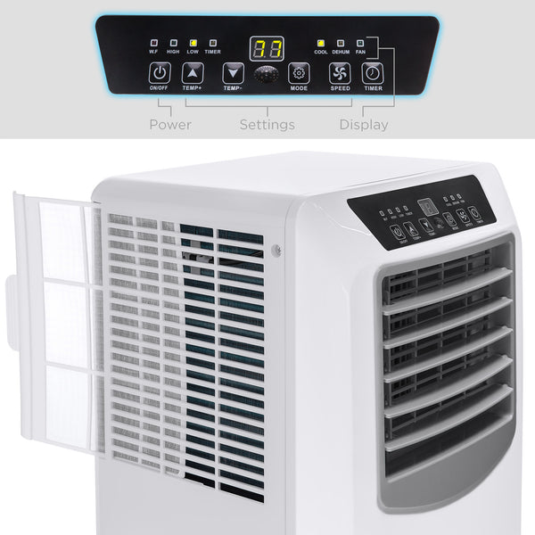 2-Speed 4-Mode Portable Window Air Conditioner w/ Remote - White