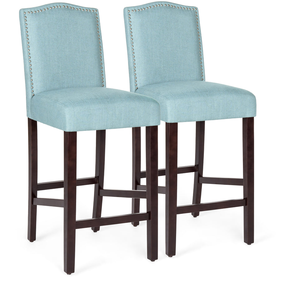 Set Of 2 30in Upholstered Counter Height Bar Stools W