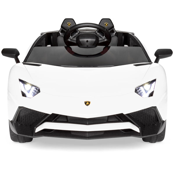 12v Kids Ride On Lamborghini Aventador Sv Car Rc Toy W Horn Led