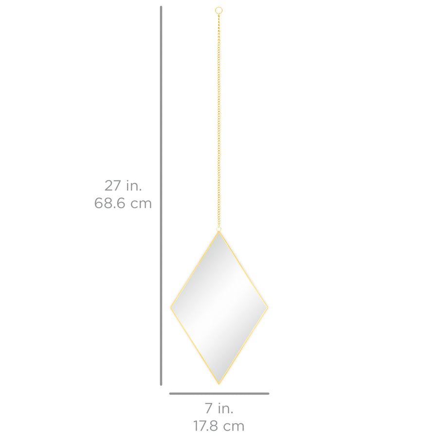 Set of 3 Diamond DIY Hanging Wall Mirrors