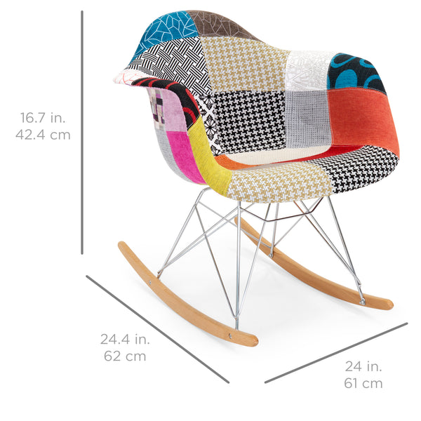 Mid Century Modern Eames Style Accent Rocking Chair