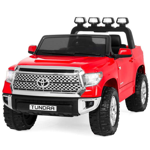 Kids 12V Toyota Tundra Truck Ride-On Car w/ Remote Control, LED Lights