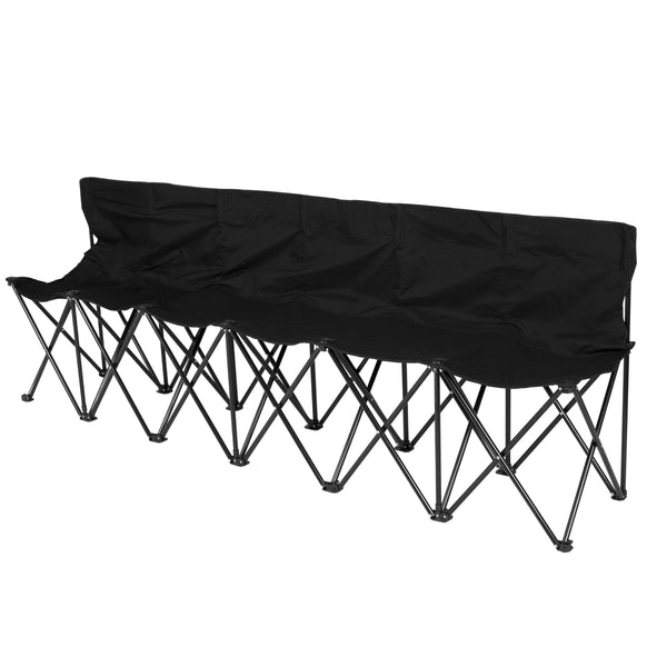 6-Seat Portable Folding Bench w/ Carrying Case