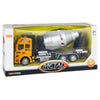 Set of 3 Friction-Powered Toy Construction Trucks - Yellow