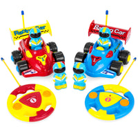 Deals on 2-Ct BCP Kids RC Remote Control Racing Car Toys w/Action Figures