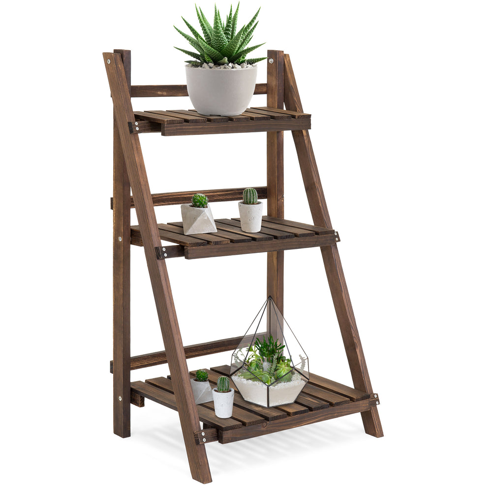 Best Choice 3-Tier Multipurpose Folding Wood Stand