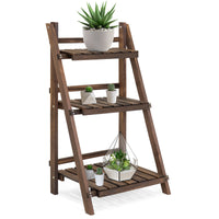 Deals on BCP 3-Tier Multipurpose Folding Wood Plant Storage Stand