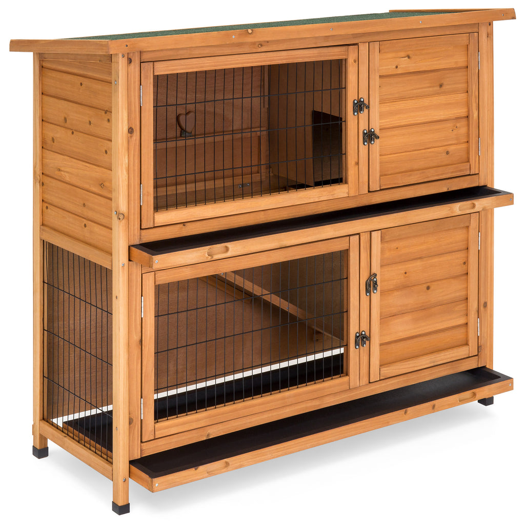 48x41in 2-Story Rabbit Hutch