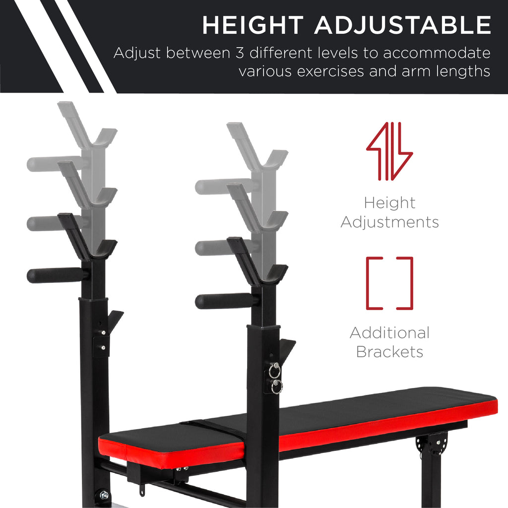 Adjustable Barbell Rack and Weight Bench