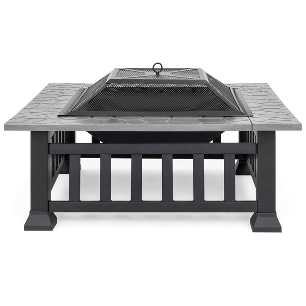 32in Square Fire Pit Table