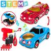 26-Piece 2-in-1 Kids STEM Take Apart Racer Car Toy w/ Sounds, Lights, Tools