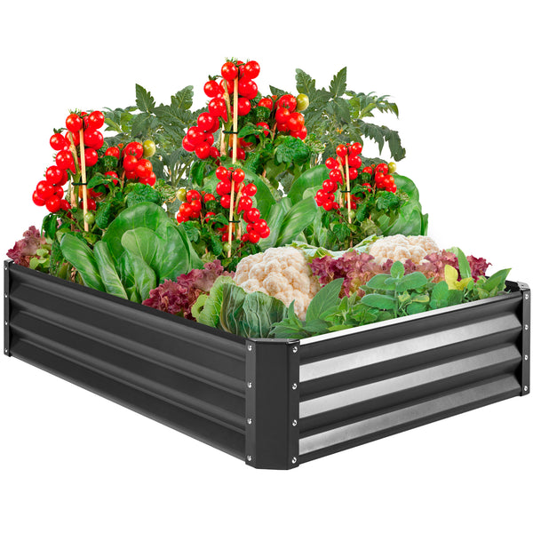 ihocon: Best Choice Products 47x35.25x11in Outdoor Metal Raised Garden Bed金屬花圃