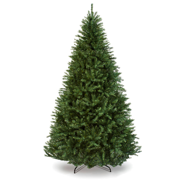 7.5ft Hinged Douglas Full Fir Artificial Christmas Tree w/ Metal Stand