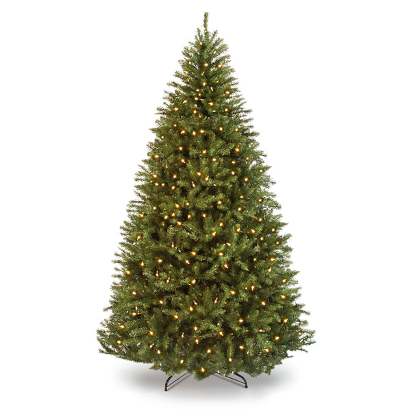 7.5ft Pre-Lit Hinged Douglas Artificial Christmas Tree w/ 700 Lights, Stand
