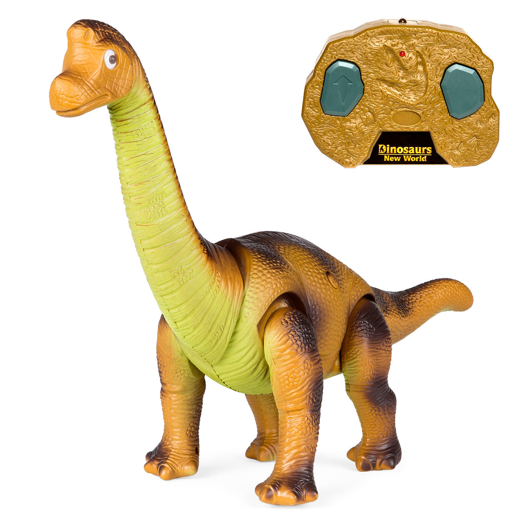 17.5in Kids Remote Control Stomping and Roaring Dinosaur Brachiosaurus Toy