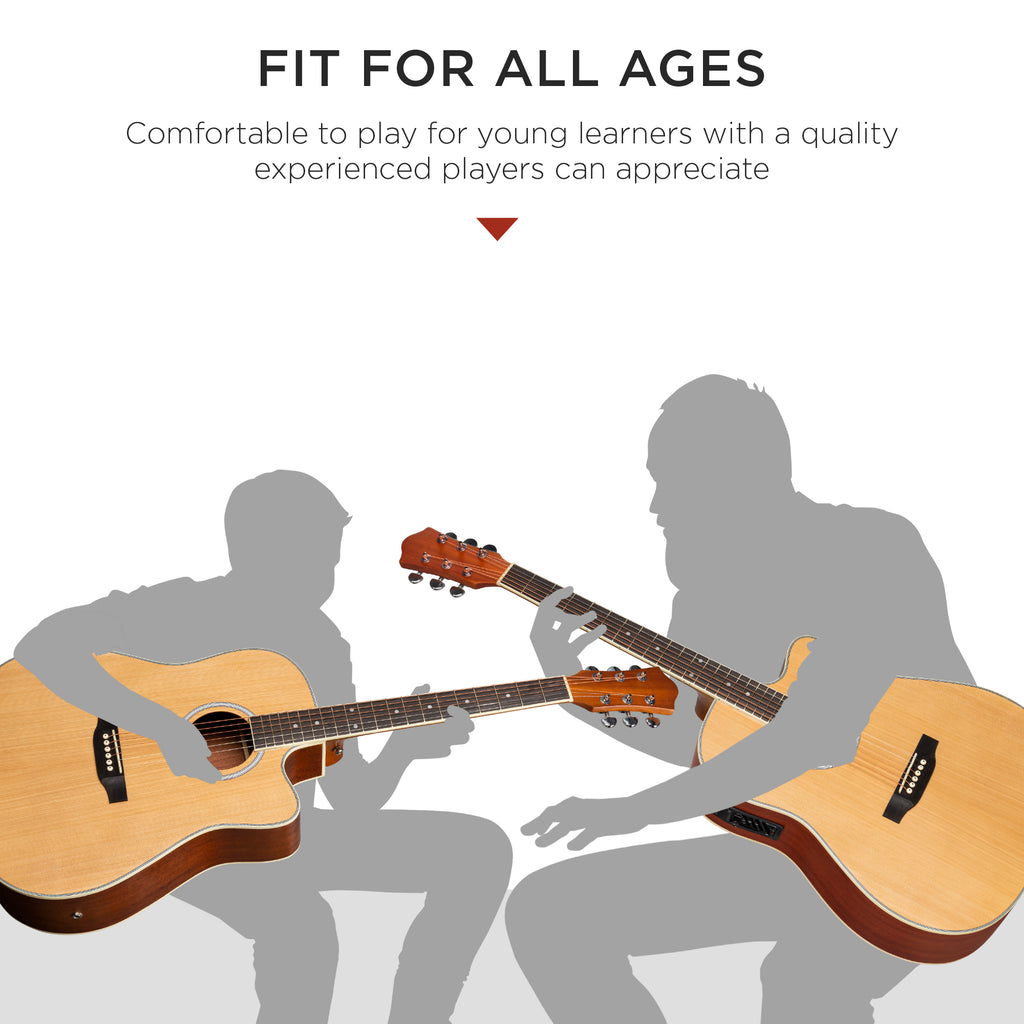 41in full size acoustic electric cutaway guitar set w 10 watt amp ca best choice products. Black Bedroom Furniture Sets. Home Design Ideas