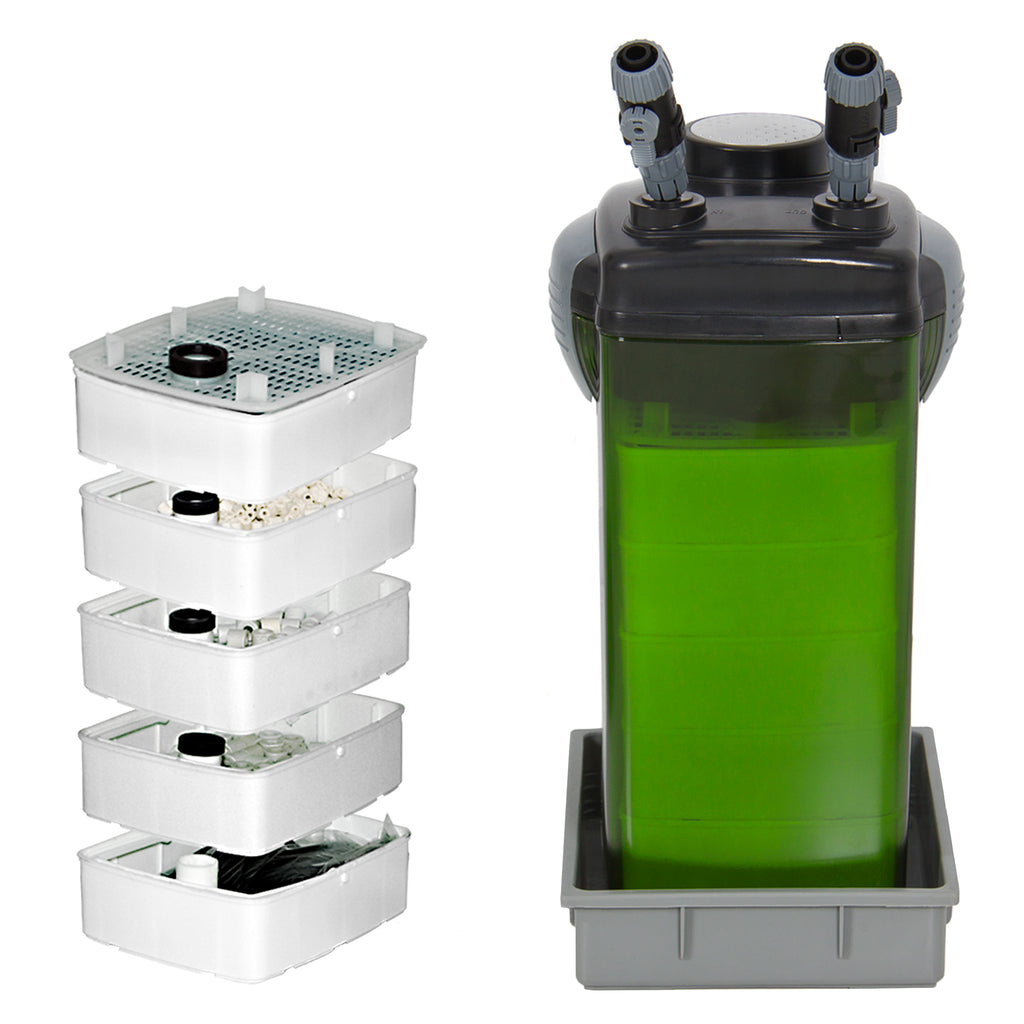 Fish Canister External 5 Stage Filter Pump For Aquarium Pump Fish Tank New