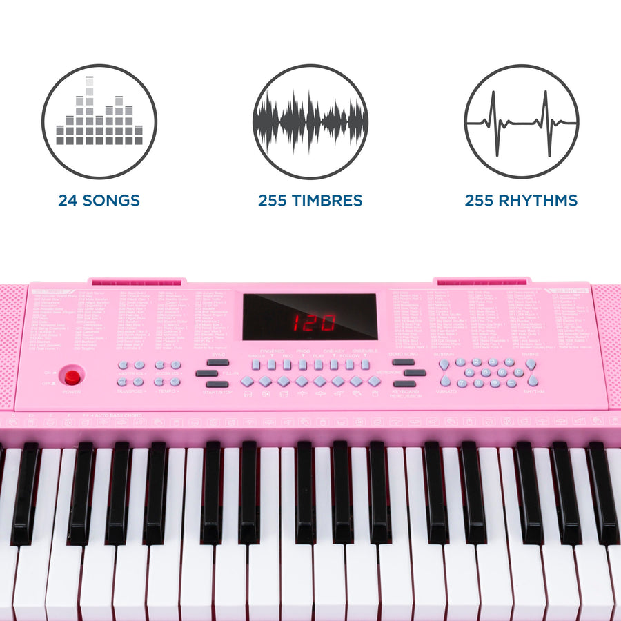 61-Key Portable Simulation Keyboard Piano w/ Speakers, Microphone