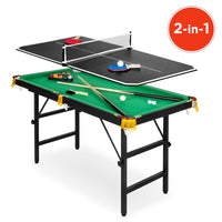 Deals on 2-in-1 Ping Pong and Billiards Pool Combo Arcade Game Table