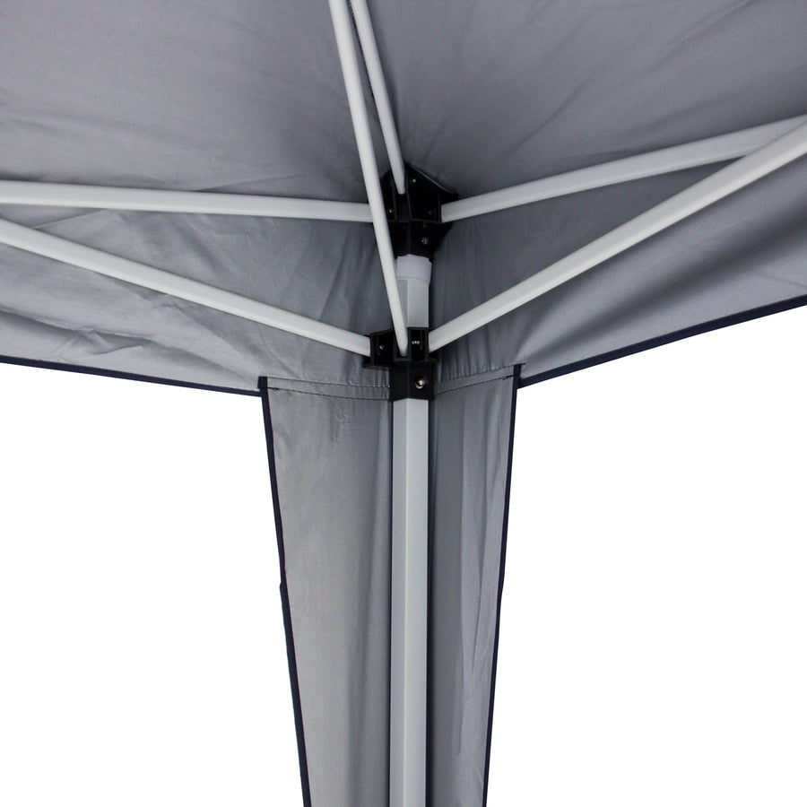 10x10ft Pop Up Canopy Tent w/ Side Walls - Blue/Silver