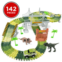 Deals on BCP 142-Piece Big Dinosaur Figure Racetrack Toy Play Set w/Car