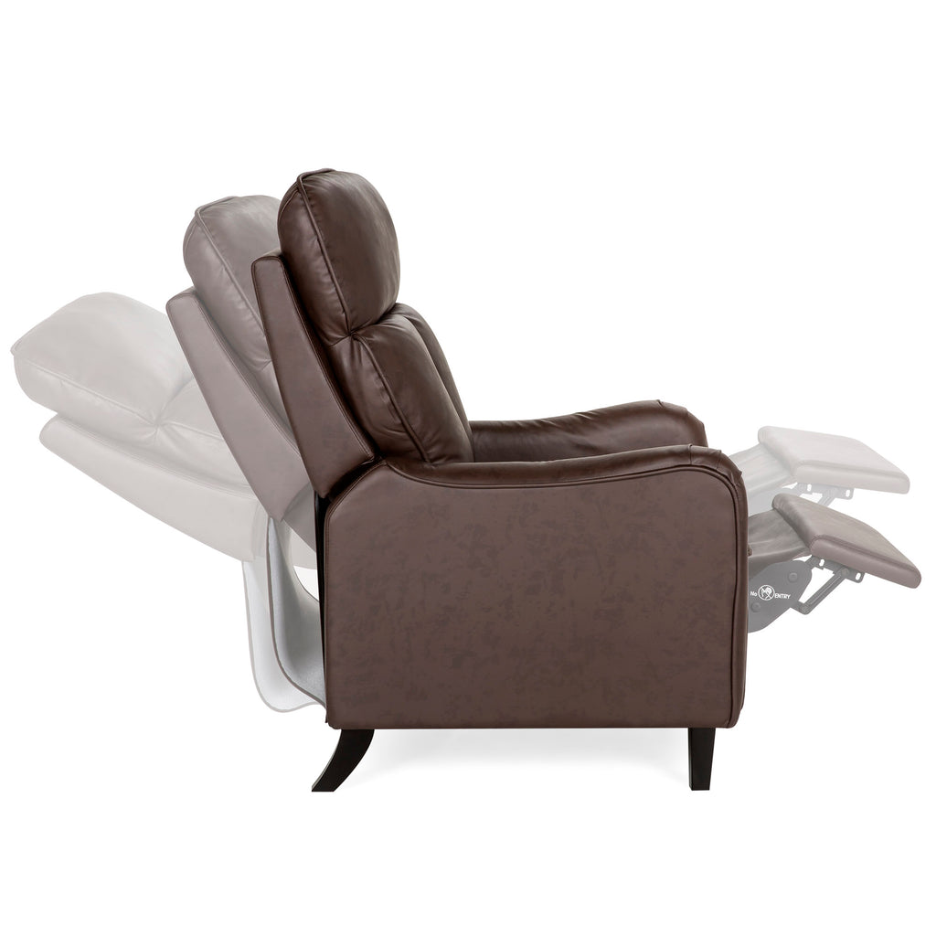 Upholstered English Roll Arm Chair Recliner Accent w/ Adjustable Leg Rest