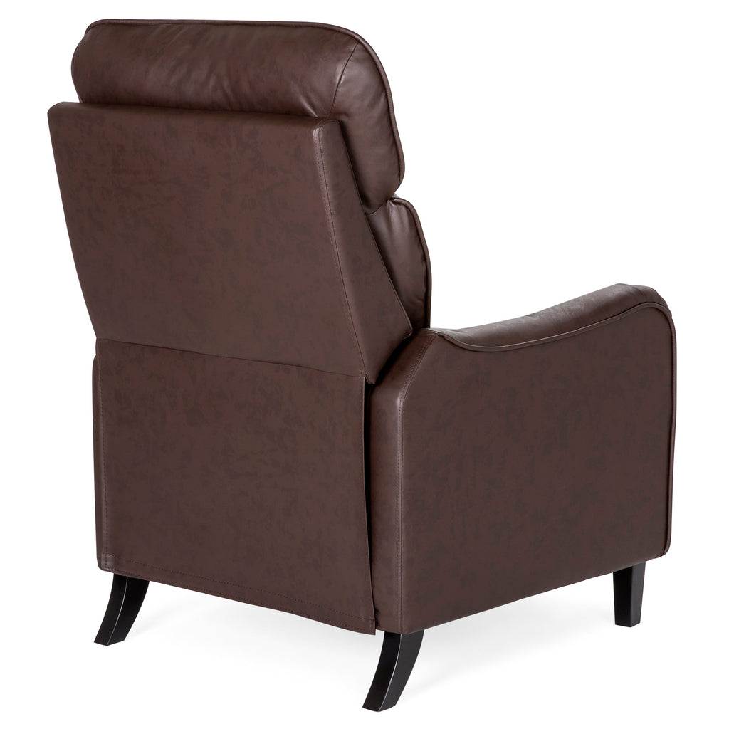 Accent Chair Roll Legs High End: Upholstered English Roll Arm Chair Recliner Accent W