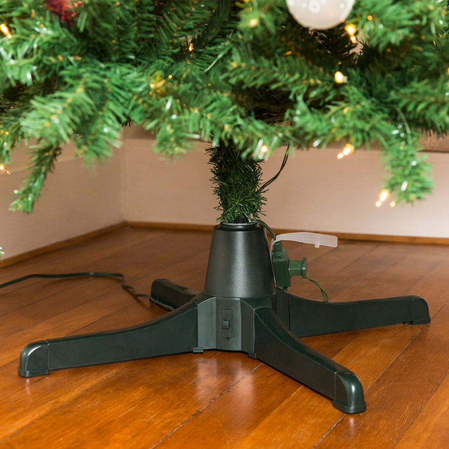 360-Degree Rotating Christmas Tree Stand w/ 3 Settings, 3 ...