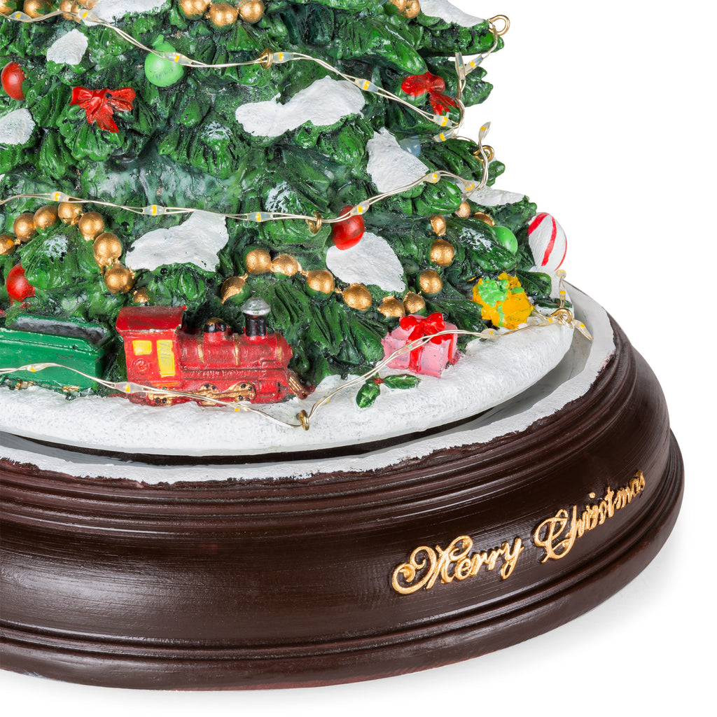 Pre Lit Rotating Christmas Tree.13in Pre Lit Handpainted Rotating Musical Christmas Tree