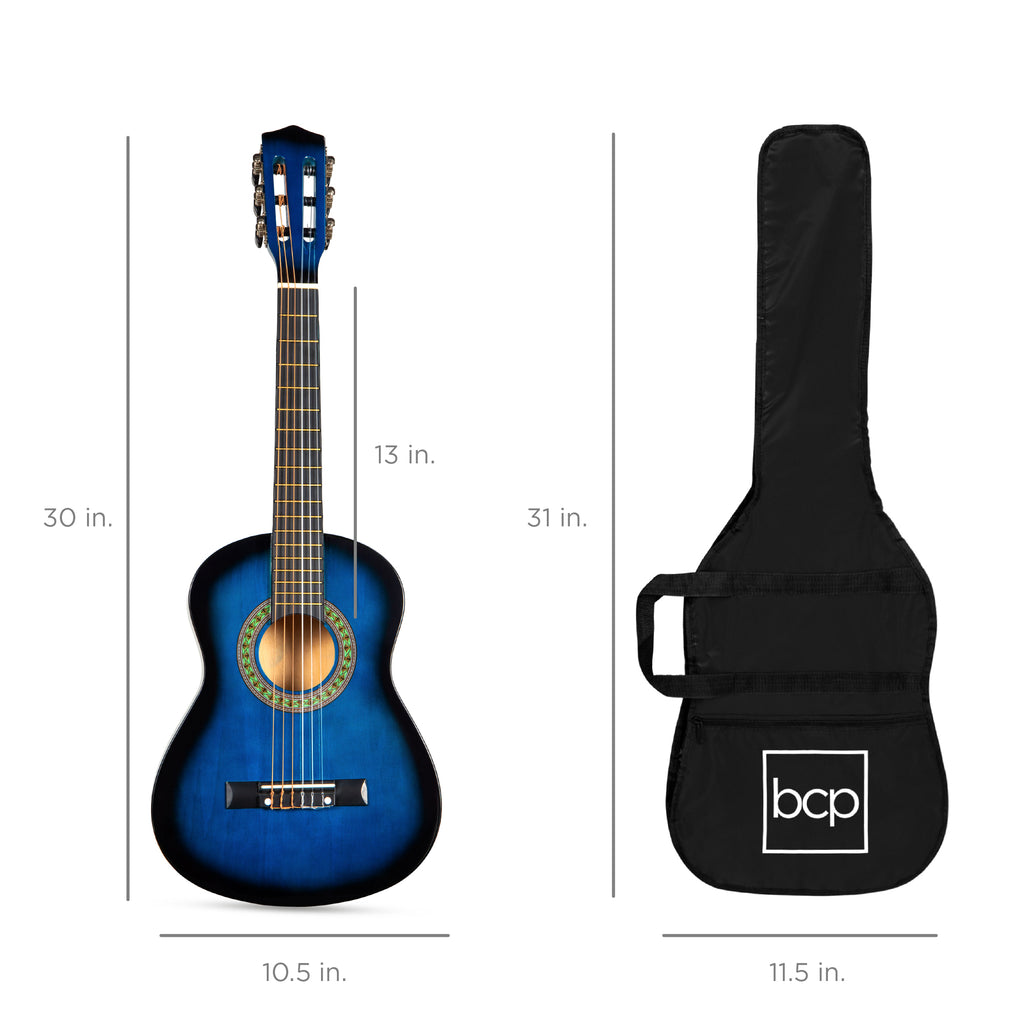 Kids Acoustic Guitar Beginner Starter Kit with Carrying Case - 30in