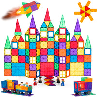 Deals on BCP 250-Piece Kids Stem Magnetic Building Block Tile Toy Play Set