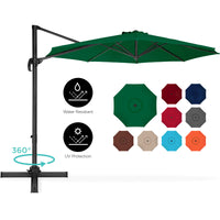 Deals on BCP 360-Degree Rotating Cantilever Offset Patio Umbrella 10ft