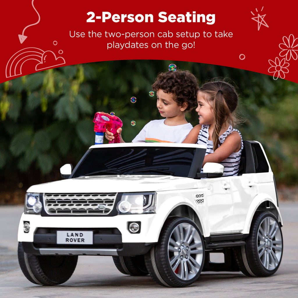 12V 2-Seater Licensed Land Rover Ride-On w/ Parent Remote Control