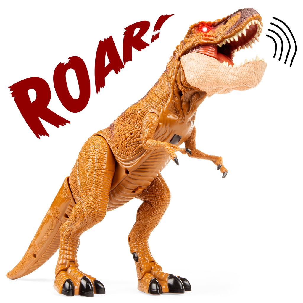 21in Kids Walking RC Remote Control T-Rex Dinosaur Toy w/ Lights, Sounds