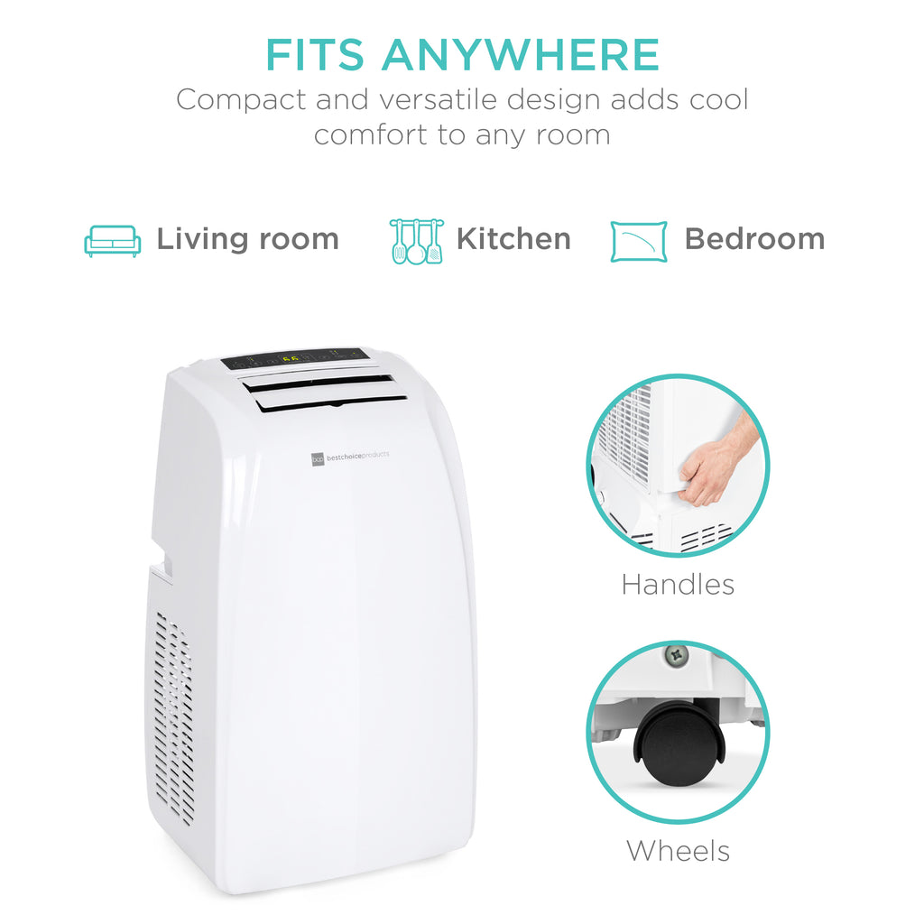 Portable 3-in-1 Air Conditioner w/ 14,000 BTU, Remote