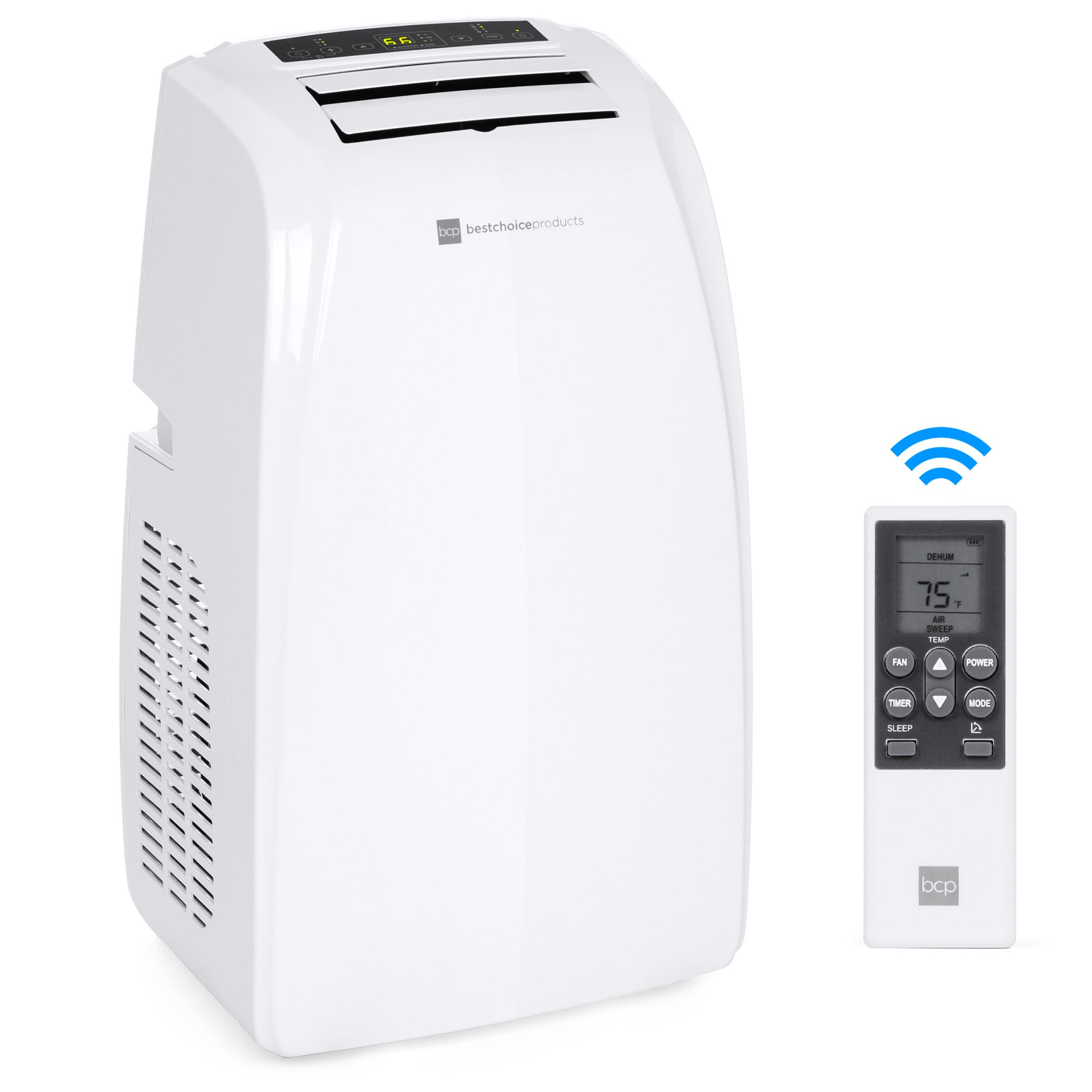 4-in-1 14,000 BTU Portable Air Conditioner Cooling & Heating Unit w/ Remote