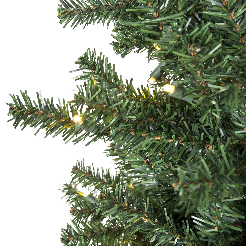 Best Price On Christmas Trees: Pre-Lit Artificial Alpine Christmas Tree W/ LED Lights