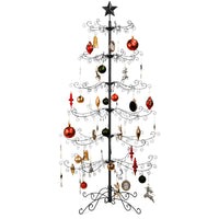 Deals on BCP Wrought Iron Christmas Tree Ornament Display w/Stand 6ft