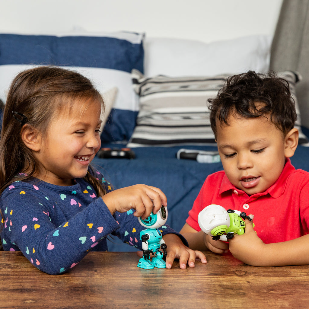 Set of 2 Samesies Mini Talking Toy Robots w/ Interactive Voice Changer