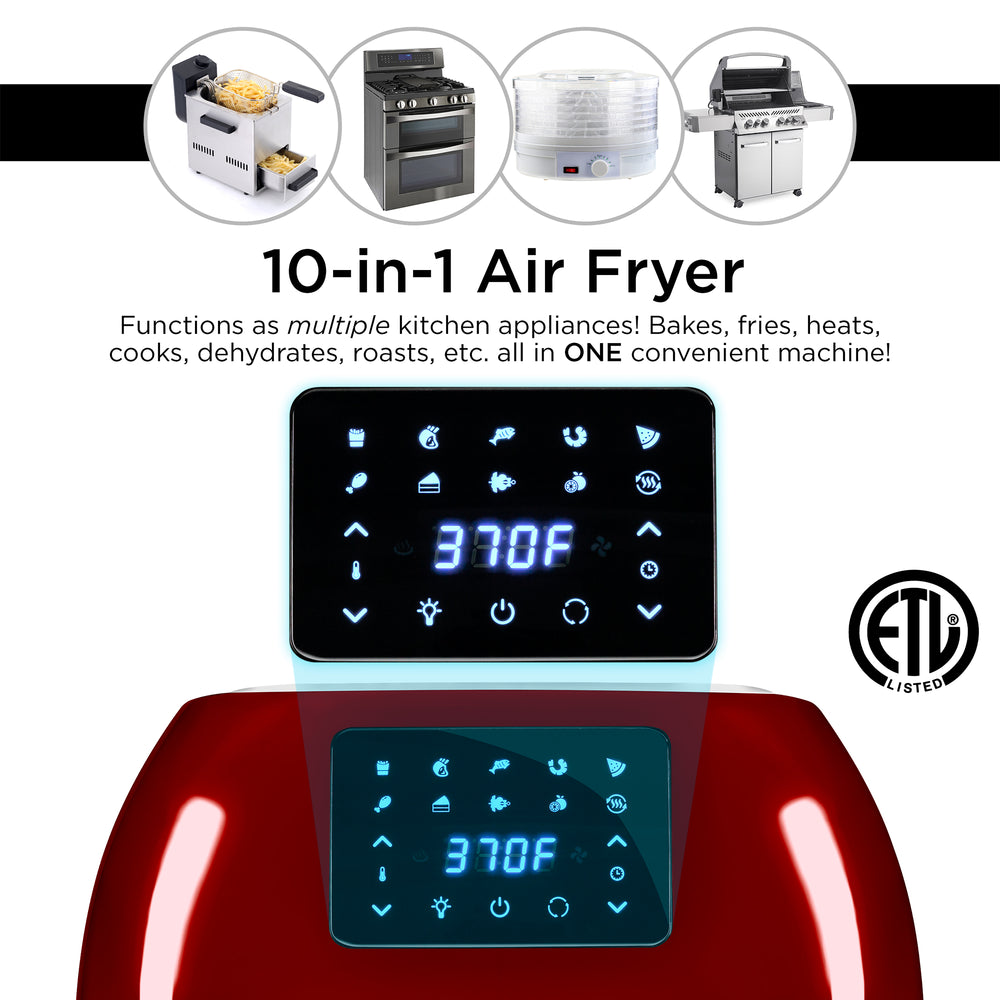 16.9qt 1800W 10-in-1 XXXL Air Fryer Countertop Oven, Rotisserie, Dehydrator