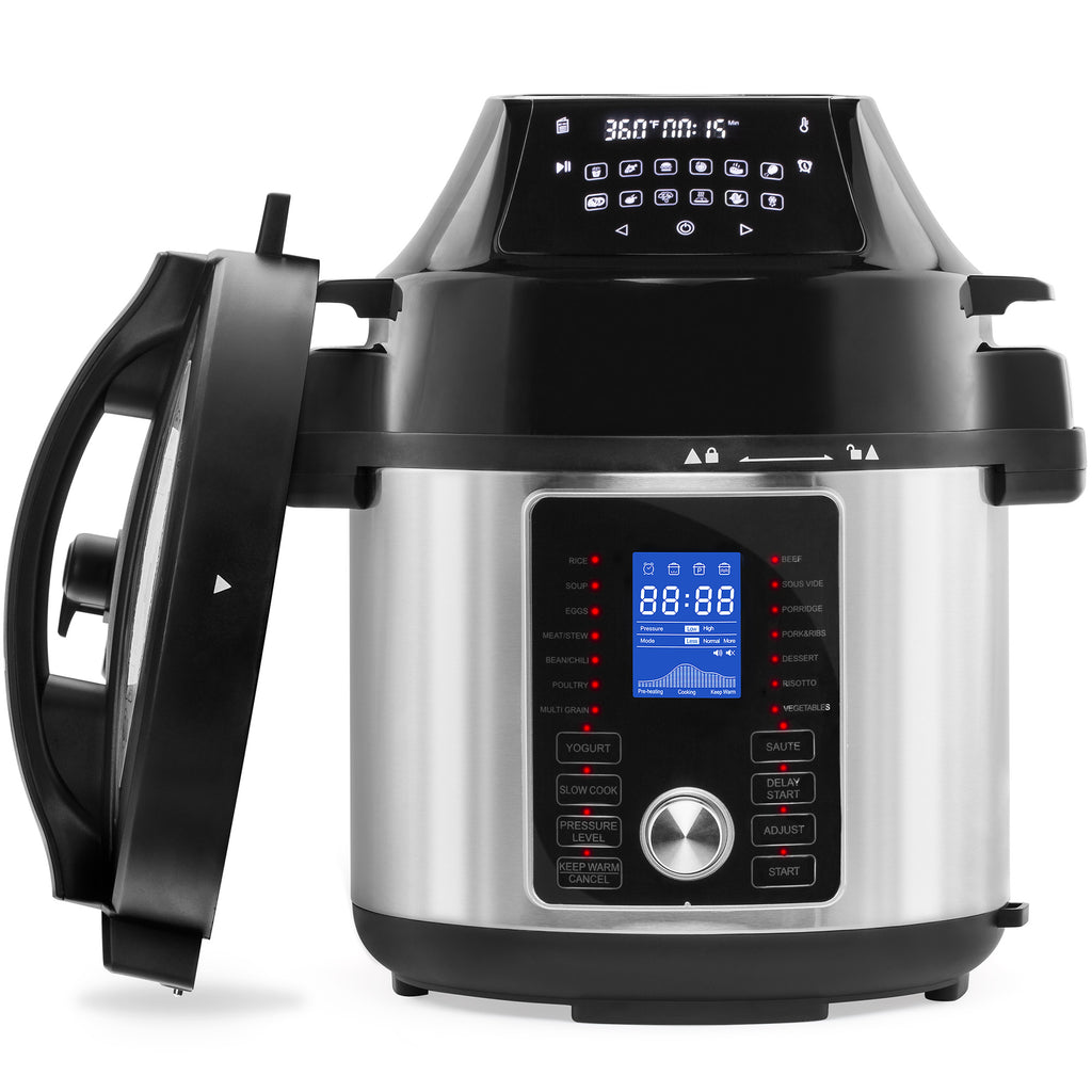 6.3Qt All-in-One Pressure Cooker, Air Fryer, and Steamer Multicooker