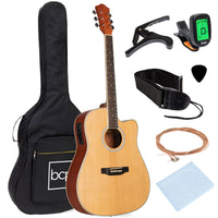 Deals on BCP 41in Full Size Acoustic Electric Cutaway Guitar Set