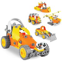 Deals on Kids 147-Piece 5-in-1 Educational STEM Building Toy Kit Vehicle Play Set