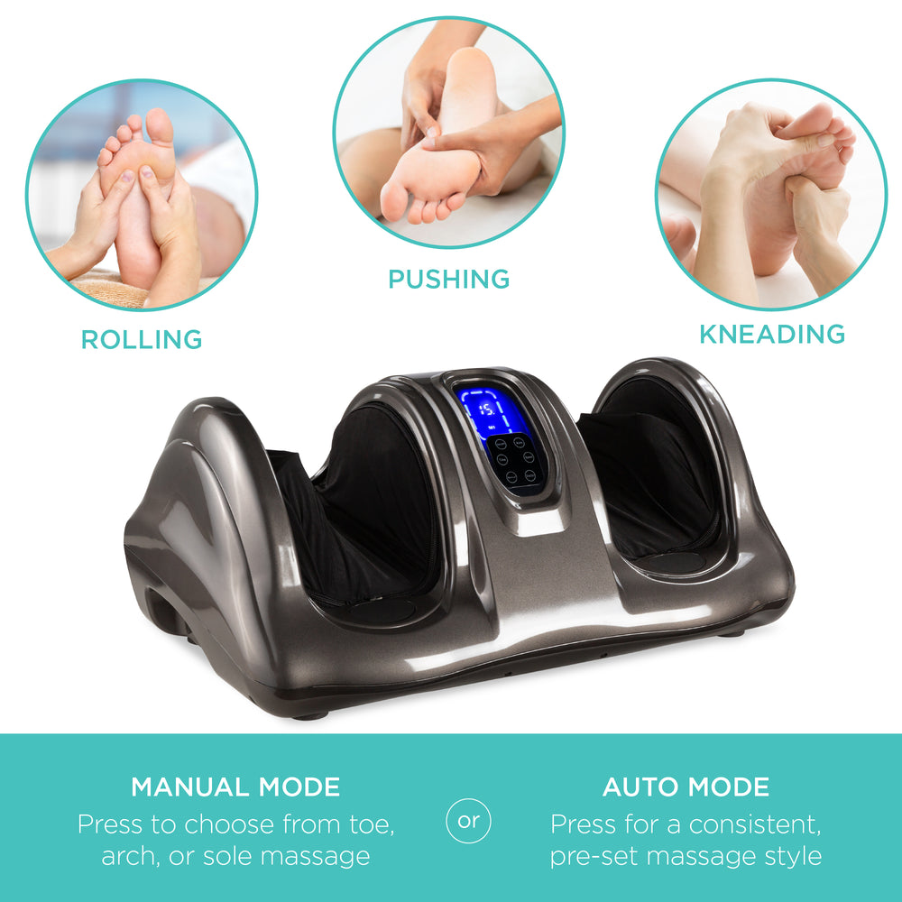 Therapeutic Foot Massager w/ High Intensity Rollers, Remote, 3 Modes