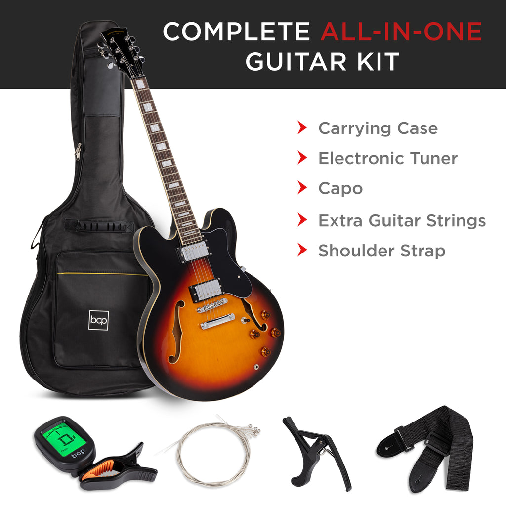 All-Inclusive Semi-Hollow Body Electric Guitar Set