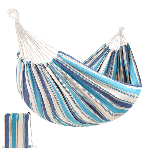2-Person Brazilian-Style Double Hammock w/ Portable Carrying Bag $16.99